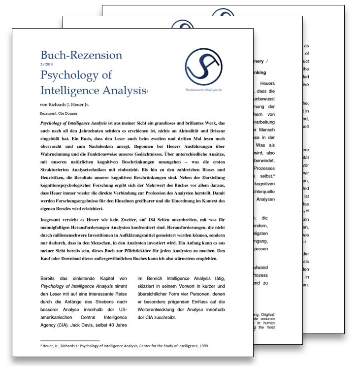 Rezension: Heuer, Richards: Psychology of Intelligence Analysis