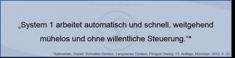 Kahneman System 1