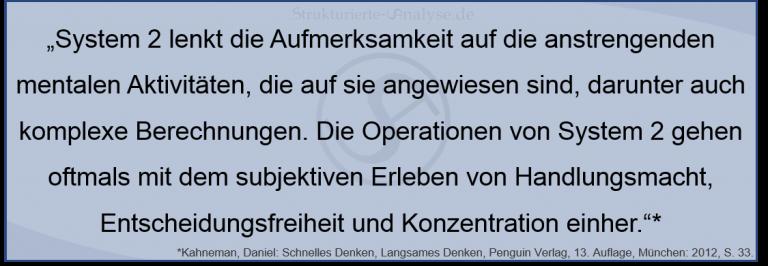 Kahneman System 2