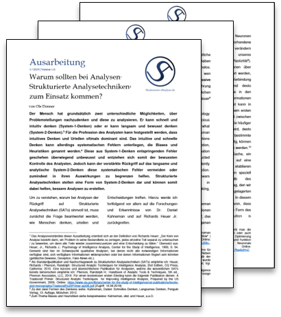 Warum sollten bei Analysen Strukturierte Analysetechniken zum Einsatz kommen?